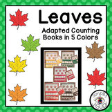 Counting Leaves Adapted Books 5 Colors
