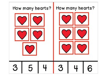 Adapted Counting Valentine Themed