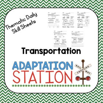Adapted Daily Skill Sheets: Transportation
