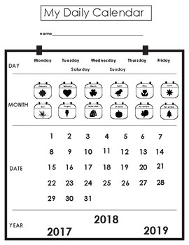 Adapted Daily Visual Calendar for Students With Autism and Diverse Learners