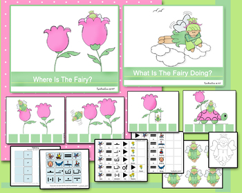 Adapted Fairy Book of Prepositions and Answering What Questions (PECS Symbols)