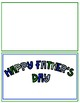Adapted Father's Day Cards