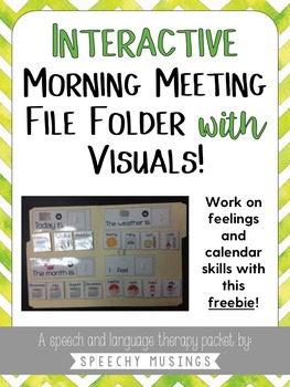Adapted File Folder Calendar Activity Freebie