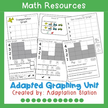 Adapted Graphing Activities for Special Education-VAAP!
