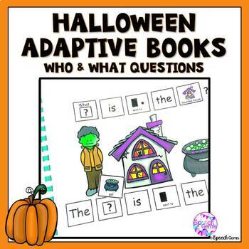 Halloween Adapted Books Wh Questions (Who and What)