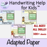 Adapted Writing Paper Bundle - For LETTER, WORD, & SENTENC