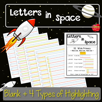 Adapted Handwriting Paper: Highlighted for Dysgraphia-Special Needs-Autism-RTI