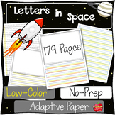 Adapted Handwriting Paper: Highlighted for Dysgraphia-Spec