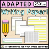 Adapted Writing Paper MEGA SET (250+ pages) Multiple Style