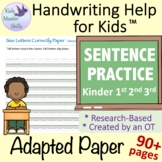 Adapted Writing Paper - SENTENCE PRACTICE