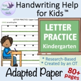 Adapted Writing Paper - LETTER PRACTICE for Upper-Case, Ta