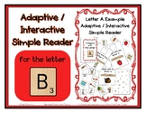 Adapted Interactive Beginning Reader for the letter B - 31