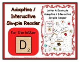 Adapted Interactive Beginning Reader for the letter D - 33
