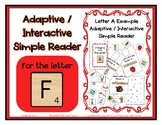 Adapted Interactive Beginning Reader for the letter F - 35