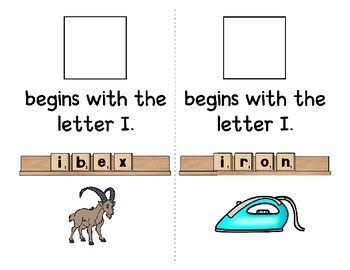 Adapted Interactive Beginning Reader for the letter I - 25 Picture Words