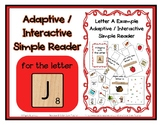 Adapted Interactive Beginning Reader for the letter J - 25