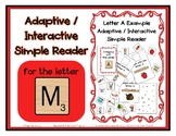 Adapted Interactive Beginning Reader for the letter M - 27
