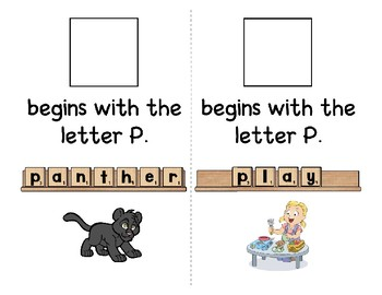 Adapted Interactive Beginning Reader for the letter P - 39 Picture Words