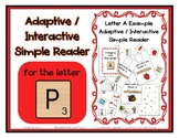 Adapted Interactive Beginning Reader for the letter P - 39