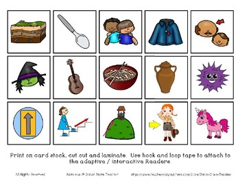 Adapted Interactive Beginning Reader for the letter U - 23 Picture Words