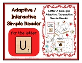 Adapted Interactive Beginning Reader for the letter U - 23