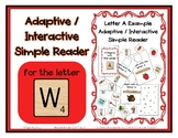 Adapted Interactive Beginning Reader for the letter W - 23