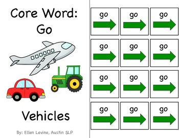 Adapted Interactive Core Word Go Books