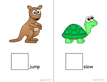 "Adapted Interactive Core Vocabulary Words ""Go"" Books"