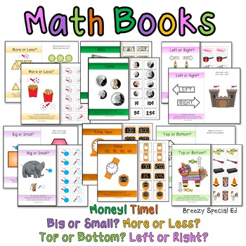 Adapted / Interactive Math Basic Life Skill Books BUNDLE f