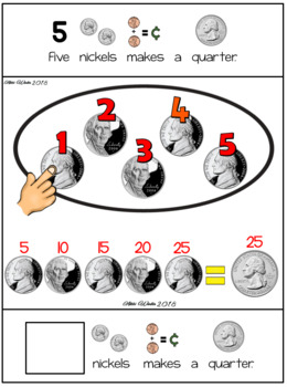 Adapted Interactive Nickel Money Book for Autism / SPED
