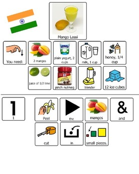 Adapted International Cookbook and Recipes (adapted with picture symbols)