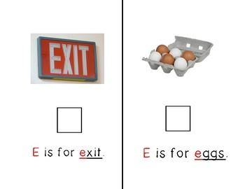 Adapted Letter E Book