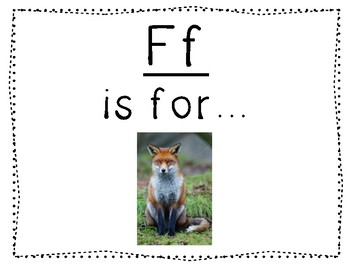 Adapted Letter F Book