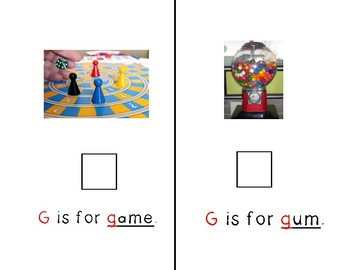 Adapted Letter G Book