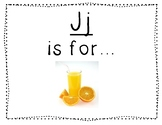 Adapted Letter J Book