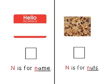 Adapted Letter N Book