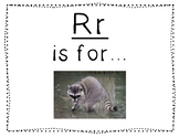 Adapted Letter R Book
