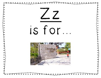 Adapted Letter U and Letter Z Book