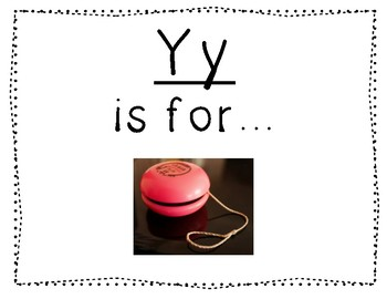 Adapted Letter Y Book