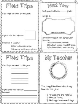 Adapted Middle School Memory Book