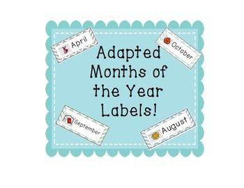 Adapted Months of the Year Labels