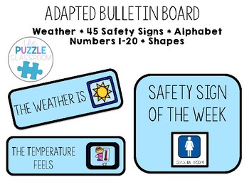 Adapted Morning Bulletin Board