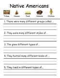 Adapted Native American Worksheet