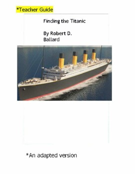 Finding the titanic teaching resources teachers pay teachers adapted novel finding the titanic adapted novel finding the titanic fandeluxe Image collections