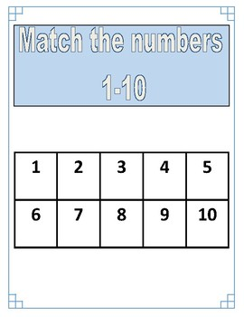 Adapted Numbers 1-10 Work Binder