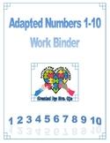Adapted Numbers 1-10 Work Binder