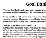 Adapted PE Goal Bank Ideas!