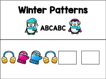 Adapted Pattern Book - Winter - Special Education