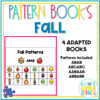 Adapted Pattern Books - Fall - Special Education #instacelebration