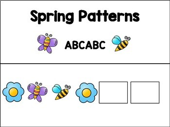 Adapted Pattern Books - Spring - Special Education